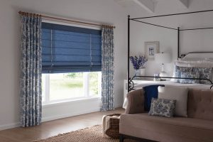 Roman shades for the bedroom by Graber